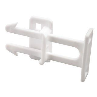 Prime Line S4439 White Plastic Drawer Catches (Pack of 3)