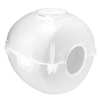 Prime Line S4441 White Plastic Doorknob Cover (Set of 2)
