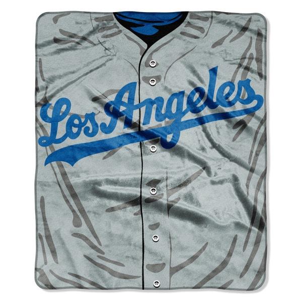 MLB 0705 Dodgers Jersey Raschel Throw