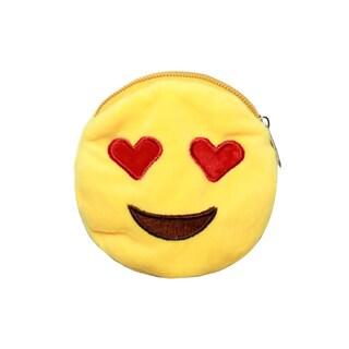 Yellow Cotton/Polyester Emoji Wallets