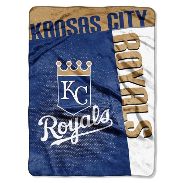 MLB 802 Royal Strike Raschel Throw