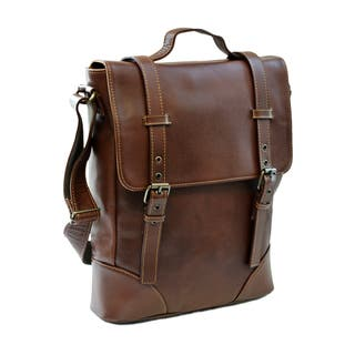 Piel Leather Black/Brown Deluxe Vertical Briefcase|https://ak1.ostkcdn.com/images/products/12187958/P19037302.jpg?impolicy=medium