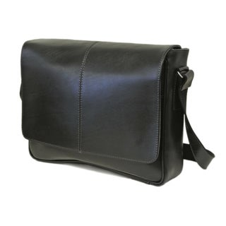 Piel Leather Deluxe Large Briefcase Messenger Bag