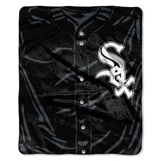 MLB 0705 White Sox Jersey Raschel Throw