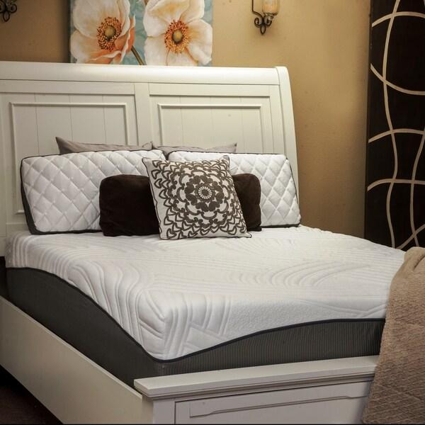 shop ecstasy by integrity bedding 12 inch sleep o nomics queen size gel memory foam mattress. Black Bedroom Furniture Sets. Home Design Ideas
