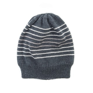 Muk Luks Men's Acrylic/ Polyester Fleece Striped Beanie