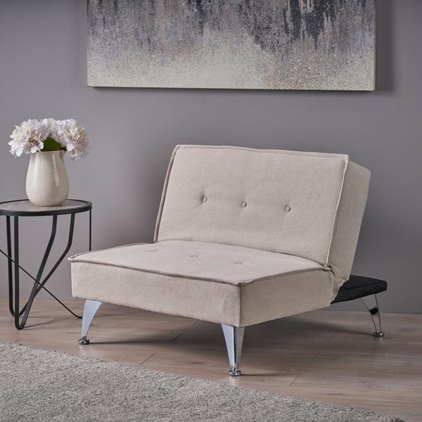 Shop Gemma Modern Fabric Reclining Chair Ottoman by