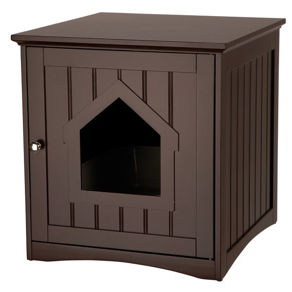 Trixie Wooden Cat House and Litter Box Enclosure  sc 1 st  Overstock.com & Trixie Wooden Cat House and Litter Box Enclosure - Free Shipping ...