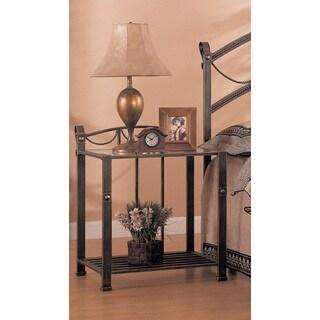 Coaster Company Antique Brass Nightstand