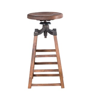 Iron and Wood Foundry Stool (India)