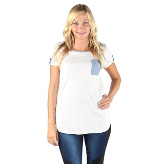 Hadari Woman 1 side pocket color block T-shirt