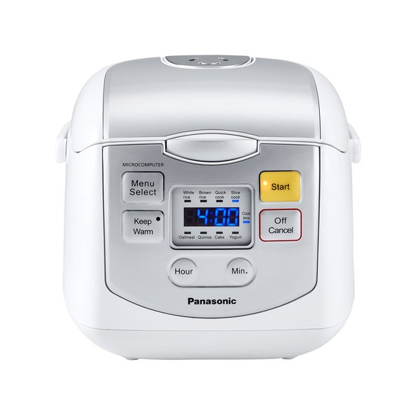 Panasonic 4-Cup Mircocomputer Rice Cooker White