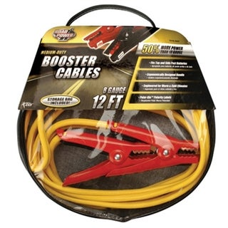 Booster Cable 12foot 8gauge Polarglo