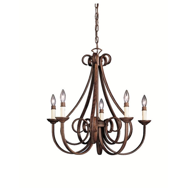 Kichler Lighting: Kichler Lighting Dover Collection 5-light Tannery Bronze