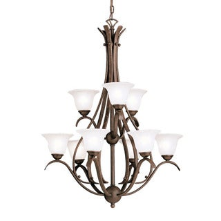 Copper Grove Rocklea 9-light Tannery Bronze Chandelier - Thumbnail 0
