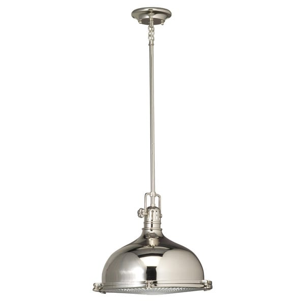 Kichler Lighting Hatteras Bay Collection 1-light Polished Nickel Pendant - N/A