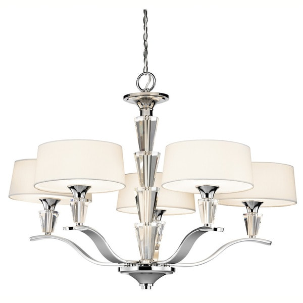 Kichler Lighting Crystal Persuasion Collection 5-light Chrome Chandelier