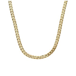 Decadence 14k Yellow Gold 7.80-millimeter 210-link Hollow Miami Cuban Link Chain