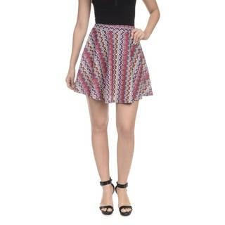 Romeo + Juliet Couture Women's Multicolor Chevron-print Skater Skirt