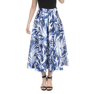 Romeo + Juliet Couture Satin Floral Midi Skirt