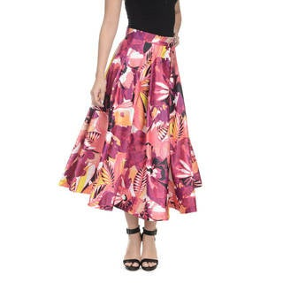 Romeo + Juliet Couture Floral Satin Midi Skirt
