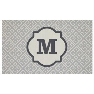 Mohawk Home Casual Comfort Gray Momogram-M (1'6 x 2'6)