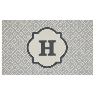 Mohawk Home Casual Comfort Gray Momogram-H (1'6 x 2'6)