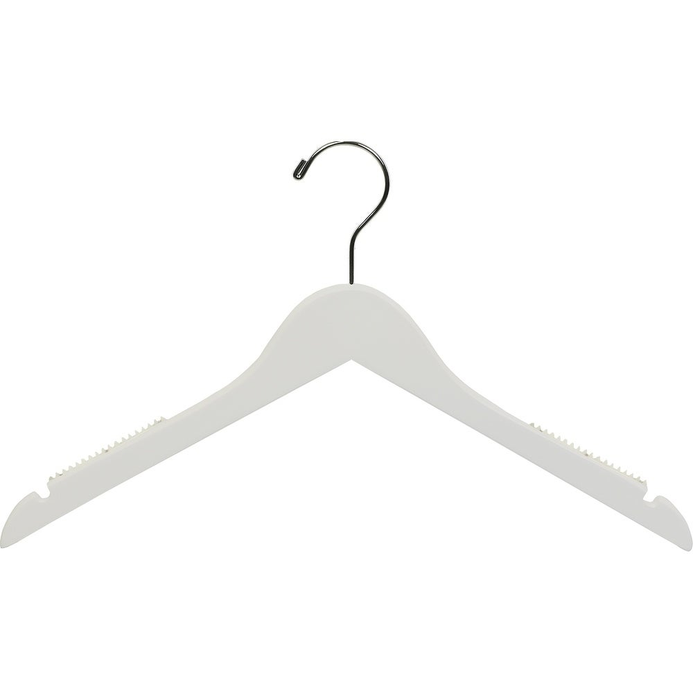 American White Petite Top Hanger with Notches & Inset Rub...