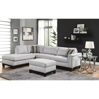 Coaster Company Blue/ Grey Velvet Sectional
