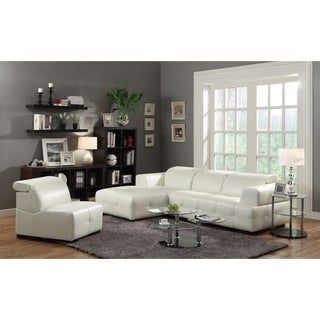 Coaster Company White Leatherette Sectional