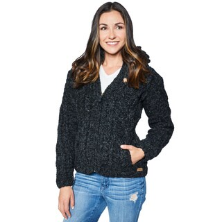 Laundromat Fjord Women's Black Wool Sweater (3 options available)