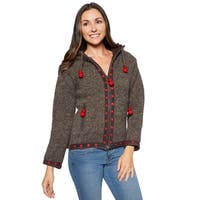 Laundromat Women's Wool Handcrafted Flower Sweater