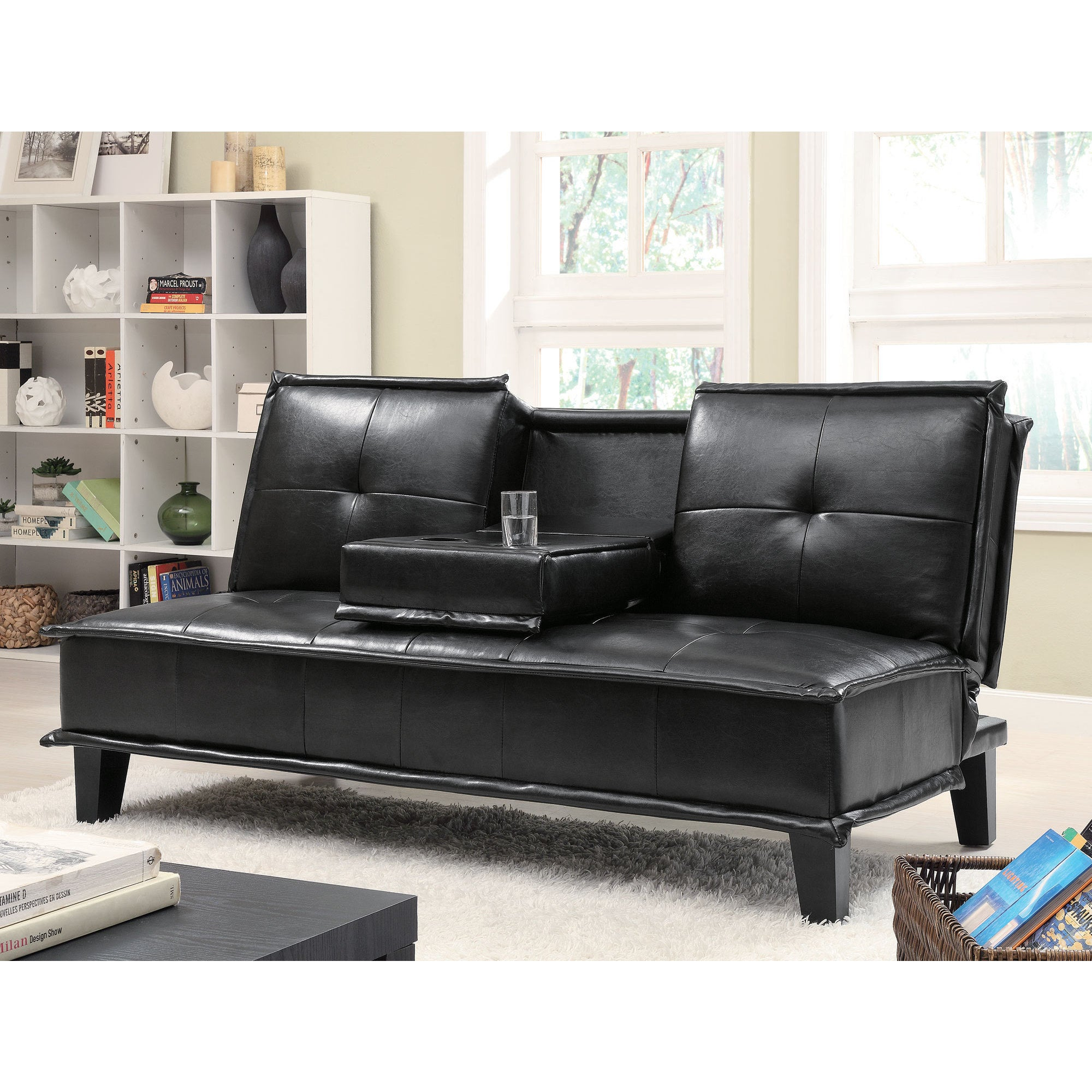 Sofa Bed With Flip Down Tray