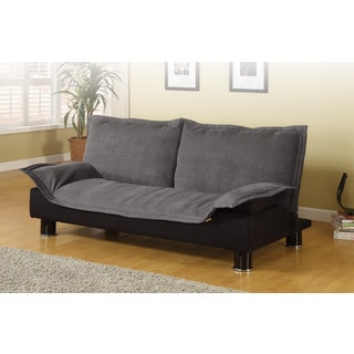 Coaster Company Grey and Black Futon Sofa