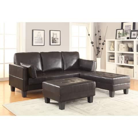 Coaster Company Brown Leatherette Sofa Bed