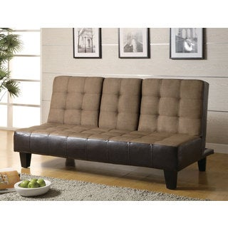 Coaster Company Tan/ Brown Microfiber/Vinyl Sofa Bed