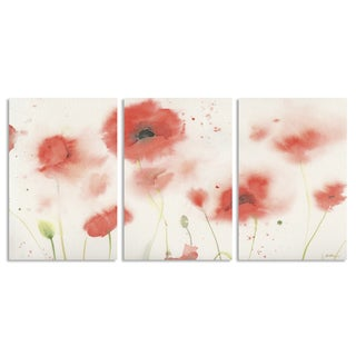 Sheila Golden 'Red Poppy Profusion' Multi Panel Art Set
