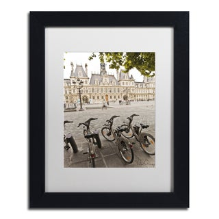 Yale Gurney 'Paris Deux - City Hall Bicycles' Matted Framed Art