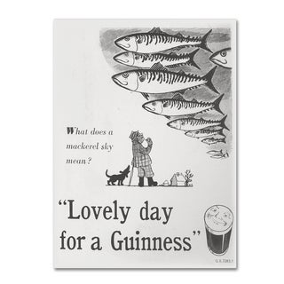 Guinness Brewery 'Lovely Day For A Guinness V' Canvas Art