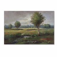 Daniel Moises 'Lonely Tree' Canvas Art