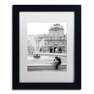 Yale Gurney 'Paris Kiss' Matted Framed Art