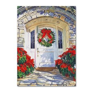David Lloyd Glover 'Poinsettia House' Canvas Art