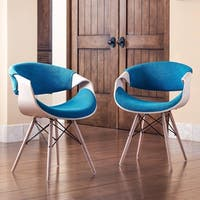 Corvus Adams Contemporary Teal Blue Accent Chair