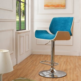 Corvus Carson Walnut Bar Stool with Chrome Base