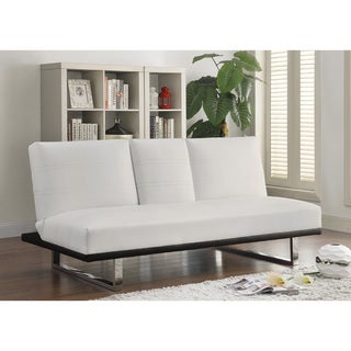 Coaster Company Contemporary Leatherette Convertible Sleeper Sofa