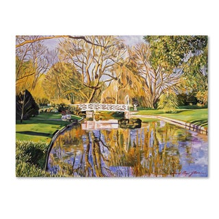David Lloyd Glover 'Reflections of the White Bridge' Canvas Art