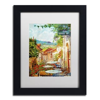 David Lloyd Glover 'Provence Cafe Morning' Matted Framed Art