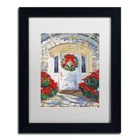 David Lloyd Glover 'Poinsettia House' Matted Framed Art