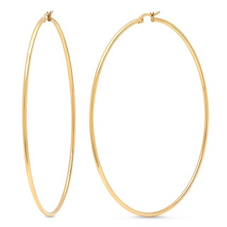 Silvertoned 90-millimeter Hoops (Option: Yellow/N/A)