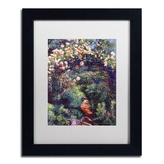 David Lloyd Glover 'Rose Arbor Pathway' Matted Framed Art
